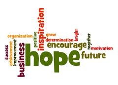 Stock Illustration of hope word cloud