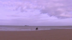 Winter fishing on the North Sea. Stock Footage