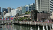 Stock Video Footage of cockle bay wharf, darling harbour, sydney, australia
