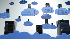 Cloud Servers 18 with Matte Stock Footage