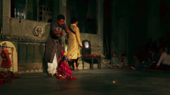 Rajasthan puppeteer performance in Udaipur India Stock Footage
