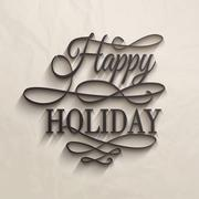 Happy Holiday - postcard decoration background. Stock Illustration
