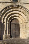 Saint emilion ancient gothic church, aquitaine, france Stock Photos