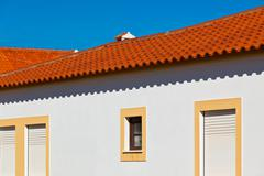 unrecognizable part of residential house at algarve, portugal - stock photo