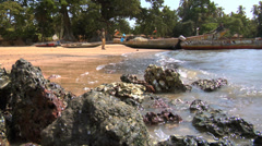 Africa - West African Beach3 - stock footage