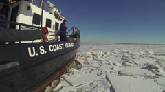 CGC Chock Icebreaking in the Chesapeake Bay Stock Footage