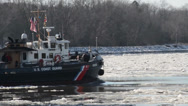 Stock Video Footage of CGC Chock Icebreaking in the Chesapeake Bay