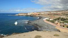 Stock Video Footage of Enramada beach (Playa de la Enramada). Tenerife