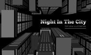 Stock Illustration of Night in the city. Top view