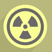 Radiation icon Stock Illustration