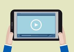 tablet videoplayer - stock illustration