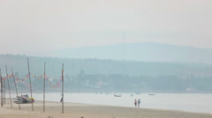 View of the beach of Mui Ne in the morning. Stock Footage