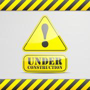 Stock Illustration of under construction sign