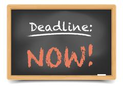 Stock Illustration of blackboard deadline now