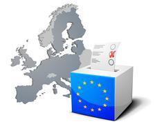 Ballot box europe Stock Illustration