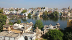 Pichola lake in Udaipur India Stock Footage