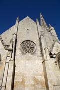 Niort ancient gothic church, aquitaine, france Stock Photos