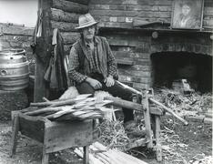 Stock Photo of Country woodworker in the 1980s