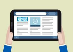 tablet news - stock illustration