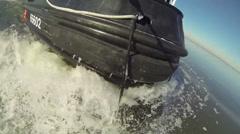 CGC Chock Icebreaking in the Chesapeake Bay Stock Footage