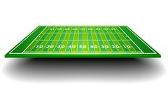 american football field with perspective - stock illustration