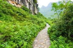 Stone path in yangshuo china Stock Photos