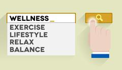 search wellness - stock illustration