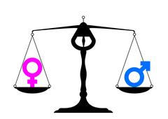 gender equality symbols - stock illustration