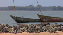 Africa - West African Boats4 Stock Footage