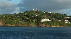 St Lucia Castries luxury coastal homes fast HD 1726 Stock Footage