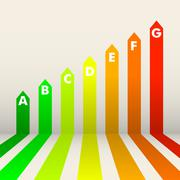 Energy efficiency rating Stock Illustration