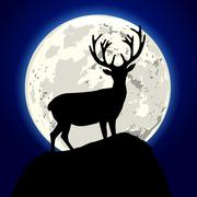 Stock Illustration of stag