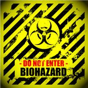 biohazard bg - stock illustration