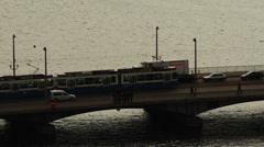 Zurich traffic in slow motion Stock Footage