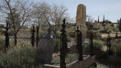 1043 - old graveyard in western mining town Stock Footage