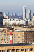 Stock Photo of houses in residential district in moscow