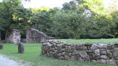 P03312 Old Spanish Church Foundation at Lamai in Belize Stock Footage