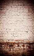 White bricks obsolete wall abstract Stock Photos