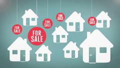 For sale. Real estate / property concept. - stock footage