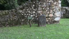 P03313 Spanish Church Ruins in Belize in Central America Stock Footage