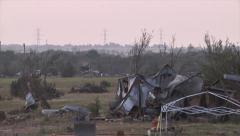Tornado Damage - Oklahoma Stock Footage