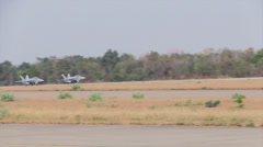 Two Marine FA-18Ds Hornets take off During Cobra Gold 2014 Stock Footage