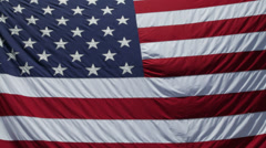 928 - American Flag in full frame waving in wind 3 Stock Footage