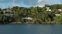 St Lucia Castries luxury homes coast fast HD 1718 Stock Footage