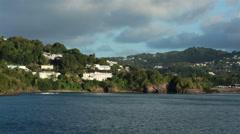 St Lucia Castries luxury homes coastline HD 1720 Stock Footage