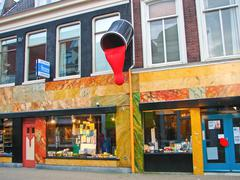 store of paint and varnish products  in gorinchem. netherlandss - stock photo