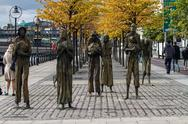 Stock Photo of famine memorial, dublin, ireland