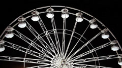 Big Wheel Spinning Carnival Fair Ground Rides Night Stock Footage