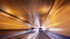 POV driving in tunnel - stock footage