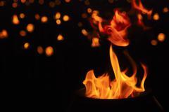 Flame in religion ceremony Stock Photos